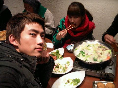 2PM's Taecyeon & miss A's Suzy enjoy a meal together in ...