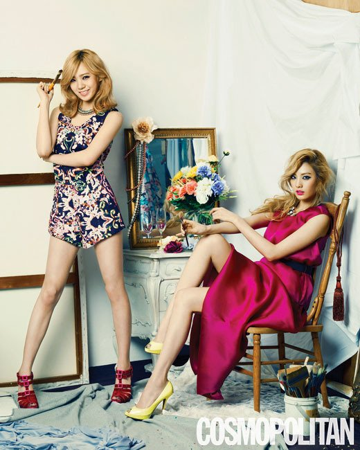 After School's Lizzy And Nana Flaunt Their Beauty For
