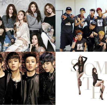 2PM,4minute,BAP,B2ST,BTOB,CNBLUE,EXO,fx,Girls-Day,Rainbow,SECRET,SHINee,SISTAR,Girls-Generation,Super-Junior,TVXQ,rainbow-blaxx