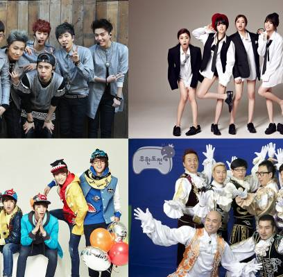 B1A4,Girls-Day,Noh-Hong-Chul,Jung-Jun-Ha,HaHa,Jung-Hyung-Don,Yoo-Jae-Suk,Leessang,gil,park-myung-soo,got7