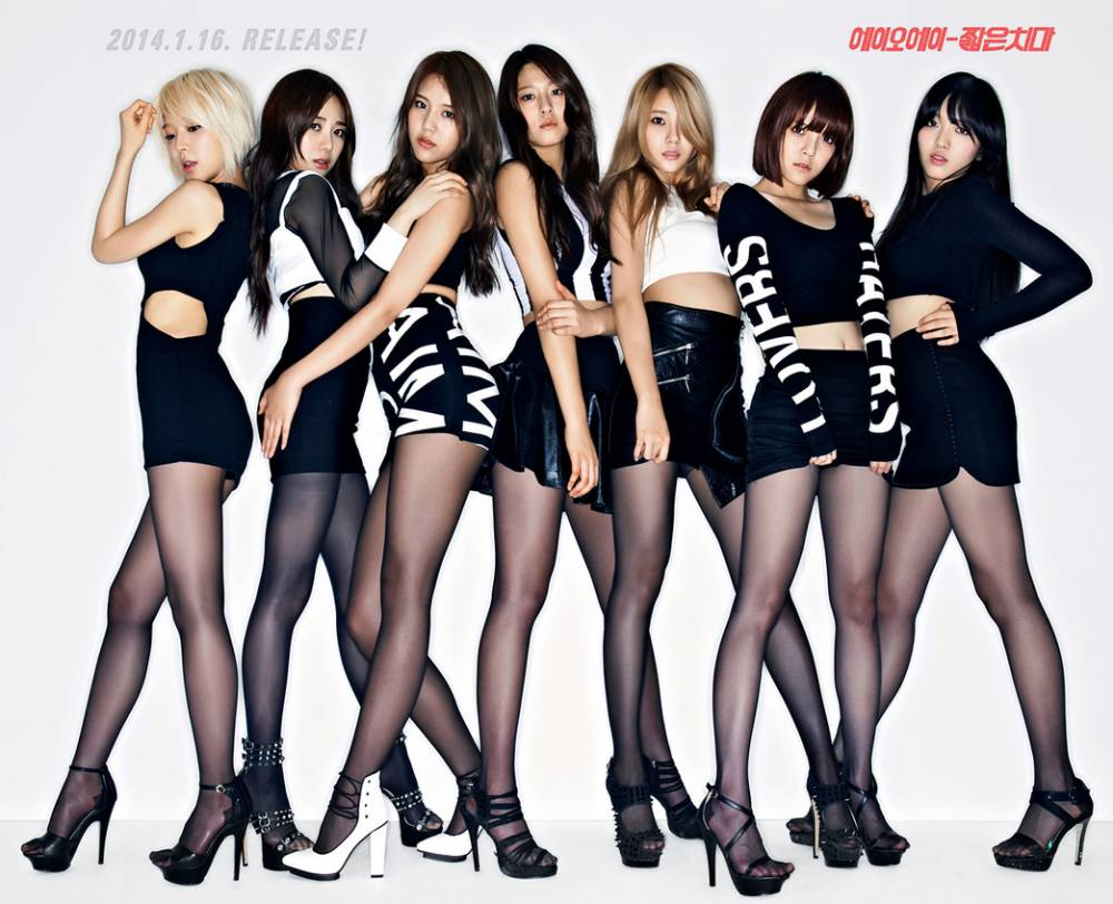 aoa look sexy wearing stockings in new teaser images for upcoming