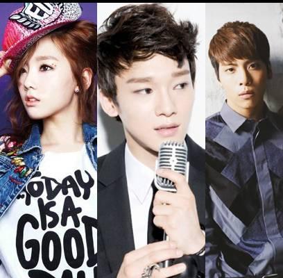 Jonghyun,EXO,Chen,fx,Krystal,SHINee,Jonghyun,Girls-Generation,Taeyeon,Super-Junior,Yesung