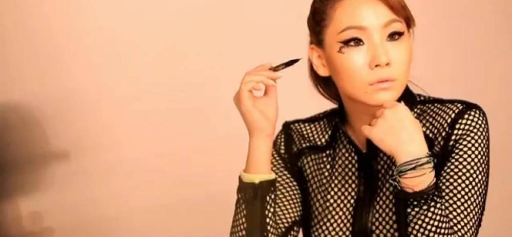 CL rocks fierce eyeliner in BTS video for 'Maybelline'