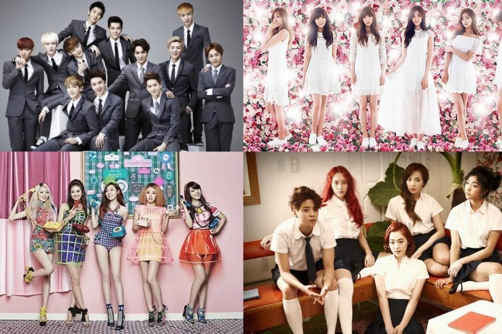 A Pink, EXO, f(x), Noh Hong Chul, Huh Gak, Kim Ye Rim (Lim Kim), Boys Republic, Ladies