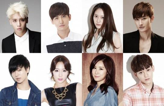 Changmin, Jonghyun, EXO, Chen, f(x), Krystal, SHINee, Jonghyun, Girls