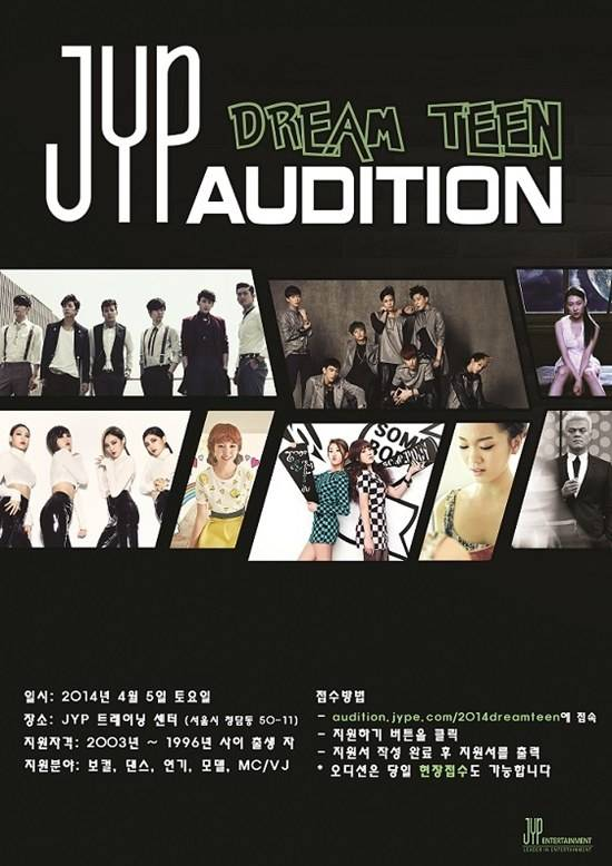 JYP Entertainment is looking for new, young talents in
