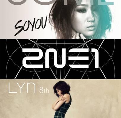 2NE1,CNBLUE,Soyu,Girls-Generation,Lyn,sunmi,sung-si-kyung,junggigo