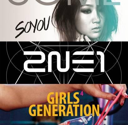 2NE1,Orange-Caramel,CNBLUE,Soyu,Girls-Generation,Lyn,shin-yong-jae,sunmi,sung-si-kyung,junggigo