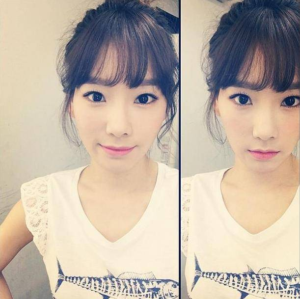 Taeyeon treats SONE to a pretty selca set during her photo ...