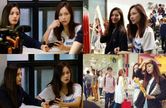 Nana and Hong Soo Hyun stroll through the streets of ...