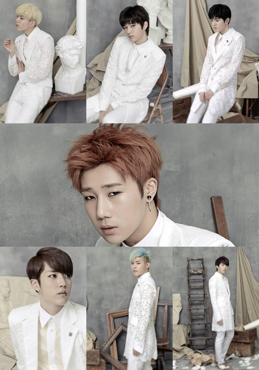 "INFINITE are dashing in all white for ""Last Romeo"" solo concept photos!"