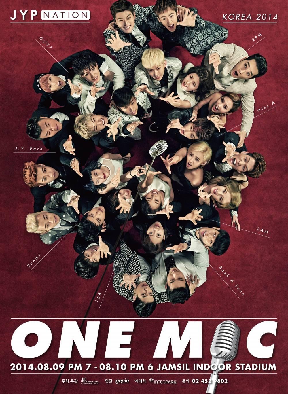 2AM, 2PM, miss A, Jang Woo Hyuk, Baek Ah Yeon, J.Y. Park, Sunmi, GOT7