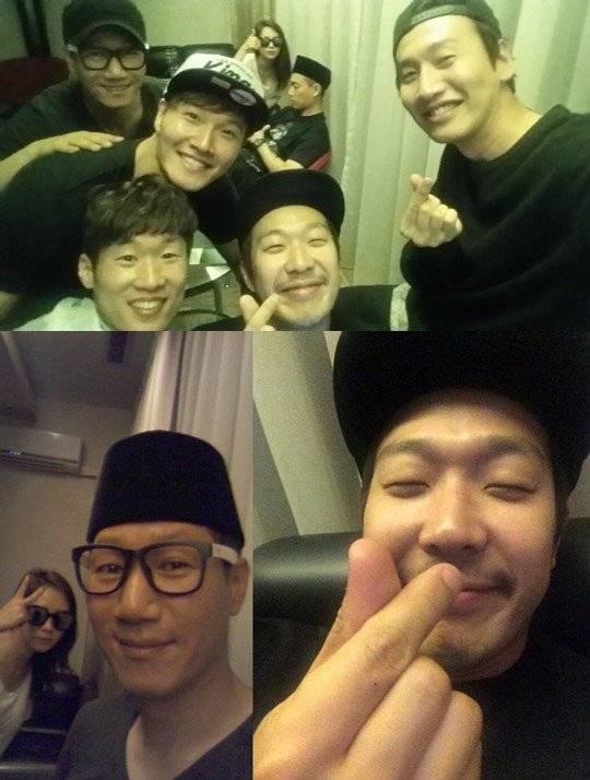 Running Man' members and Park Ji Sung spotted having fun in