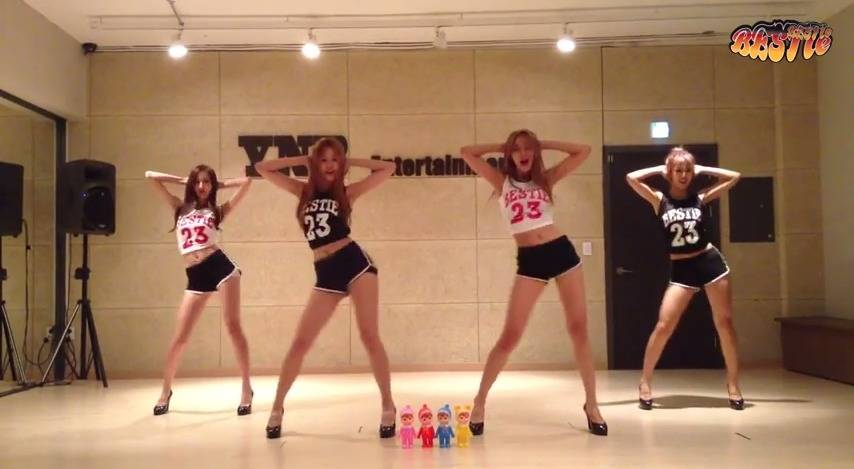 Bestie Show Off Their Long Lean Legs In Dance Practice