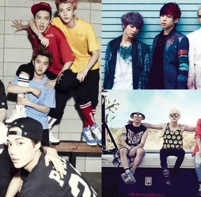 After-School,B1A4,EXO,EXO-K,Girls-Day,TEEN-TOP,Ailee,the-one,yb,yoon-do-hyun,kim-yeon-woo,park-jung-hyun-lena-park,jung-dong-ha,bobby-kim