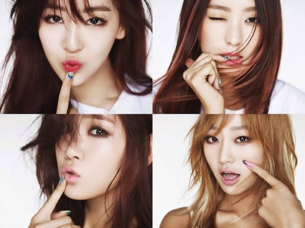 Hyejeong, HyunA, B1A4, Block B, Girl
