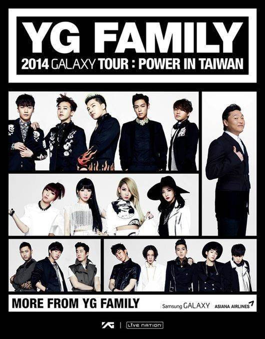 YG Family tour coming to Taiwan this October