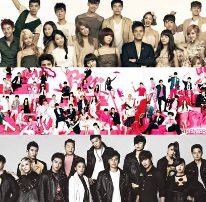2AM,2PM,2NE1,Big-Bang,EXO,fx,miss-A,SHINee,Girls-Generation,Super-Junior,TVXQ,Wonder-Girls,Epik-High,winner,got7,red-velvet