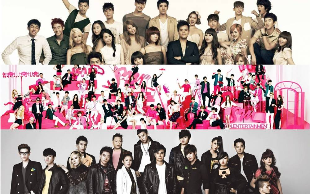 SM Entertainment, YG Entertainment, and JYP Entertainment ...