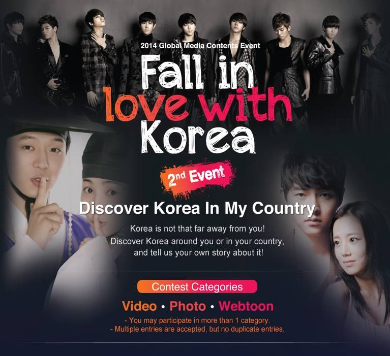 Win a 5-day-4-night trip to Korea through the 'Fall in Love with Korea' event!