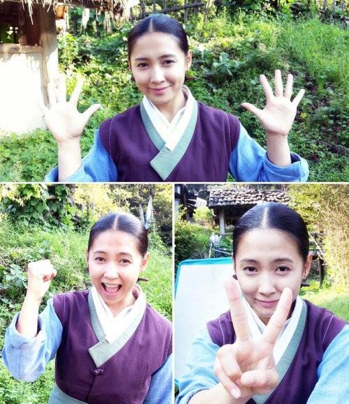 Lee Jun Ki and Nam Sang Mi give their farewell greetings ...