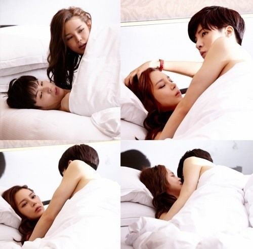 If you want to catch Park Si Yeon and Noh Min Woo s bed scene and more of  the romantic love stories of four couples   Greatest Wedding  will be  premiering. Park Si Yeon talks about her steamy bed scene with Noh Min Woo for