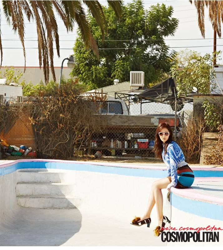More cuts of Girls' Generation's Yuri in California for Cosmopolitan revealed