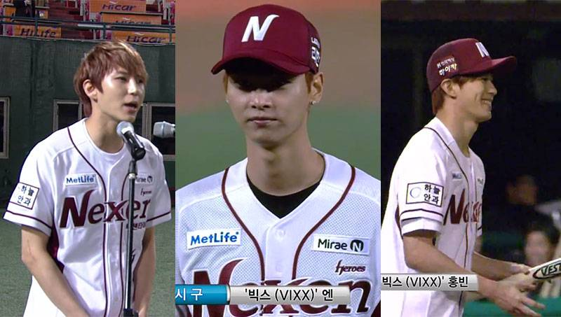 VIXX's Leo, N, and Hongbin sing national anthem and throw ...
