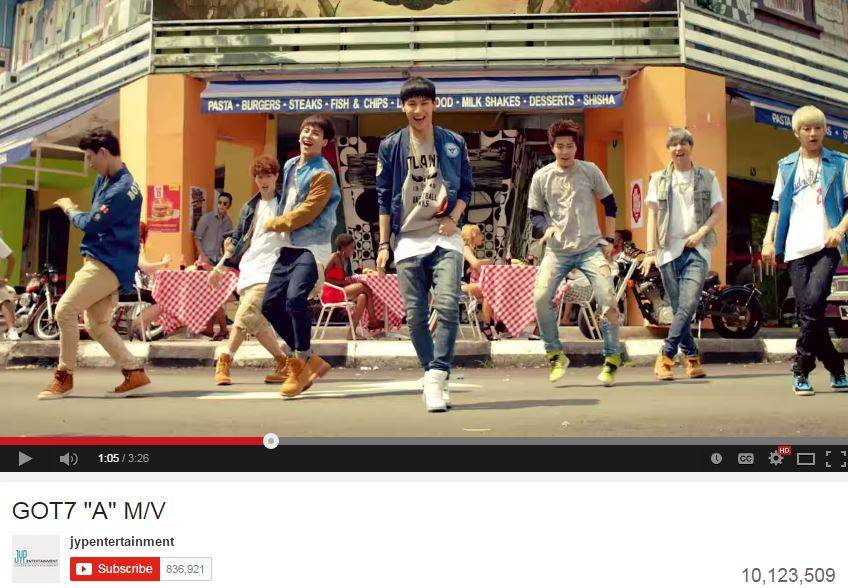 GOT7's MV for 'A' reaches 10 million views on YouTube