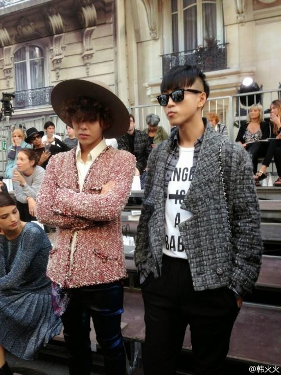 G-Dragon and Mizuhara Kiko spotted at 'Chanel 2015 S/S ...  G-Dragon and Mi...