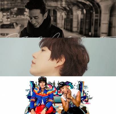 AOA,Taeyang,G-Dragon,Kyuhyun,Huh-Gak,yoo-hee-yeol,10cm,mc-mong,sung-si-kyung,beenzino,crush,bobby,kim-dong-ryul,hi-suhyun