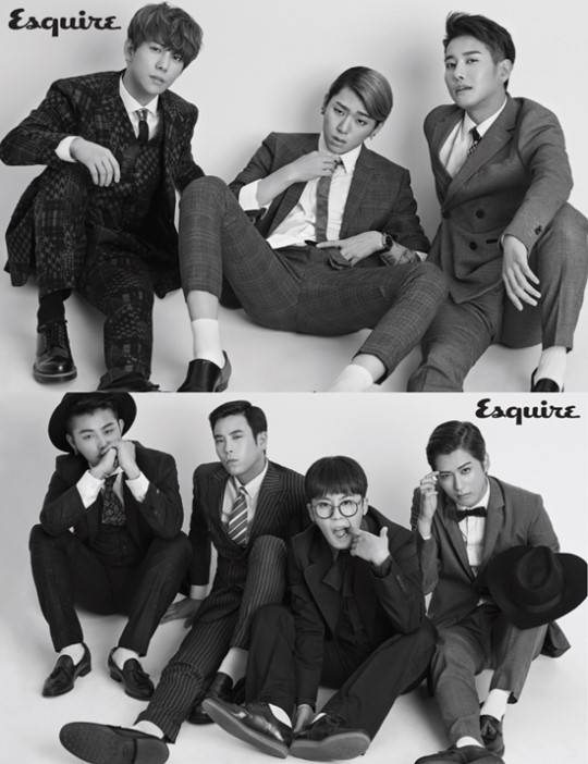 Block B suit up for 'Esquire's December issue
