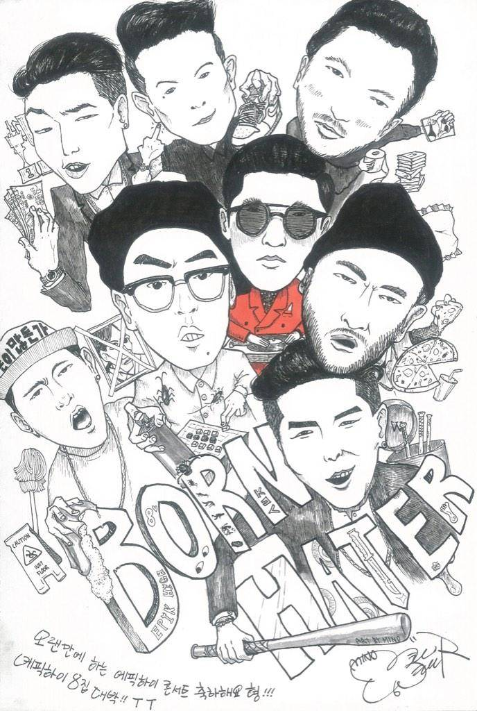 Tablo shows off Song Min Ho (Mino)'s impressive drawing of the 'Born Hater' crew
