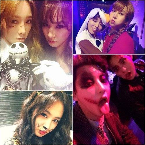 SM family look pretty and scary in pictures from their Halloween ...