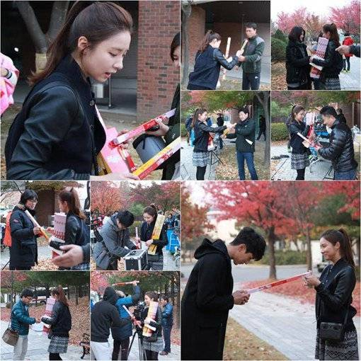 Shin Se Kyung treats the cast and staff of 'Iron Man' on Pepero ...