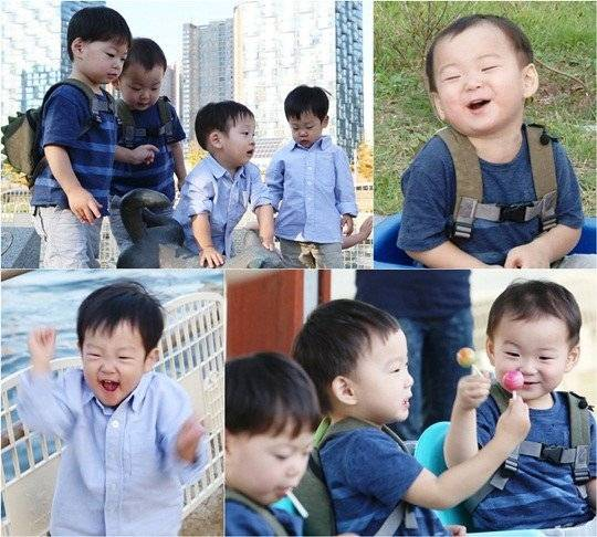 song il kook 39 s triplets and lee hwi jae 39 s twins go on an outing at the flea market. Black Bedroom Furniture Sets. Home Design Ideas
