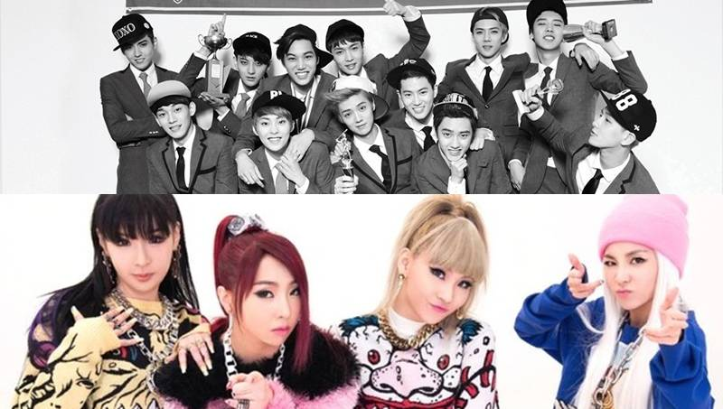 Top Artists Of 2014 exo and 2ne1 make top 10 of billboard's '2014 world albums artists