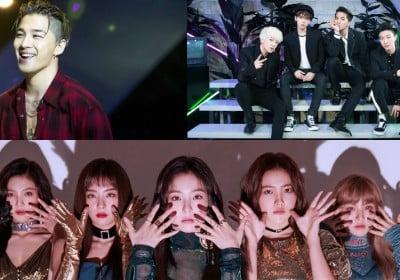 Taeyang,FT-Island,Girls-Day,Junsu,U-KISS,john-park,insooni,dj-doc,winner,beenzino,red-velvet,laboum,nct,black-pink,hwang-chi-yeol