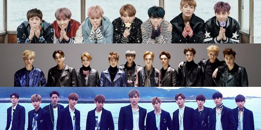 EXO,bts,wanna-one