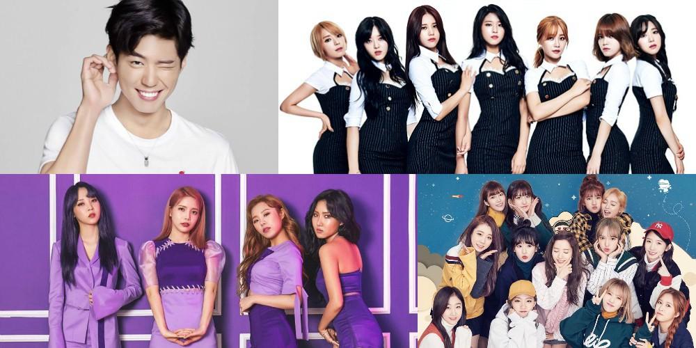 AOA, MAMAMOO, Park Bo Gum, Cosmic Girls