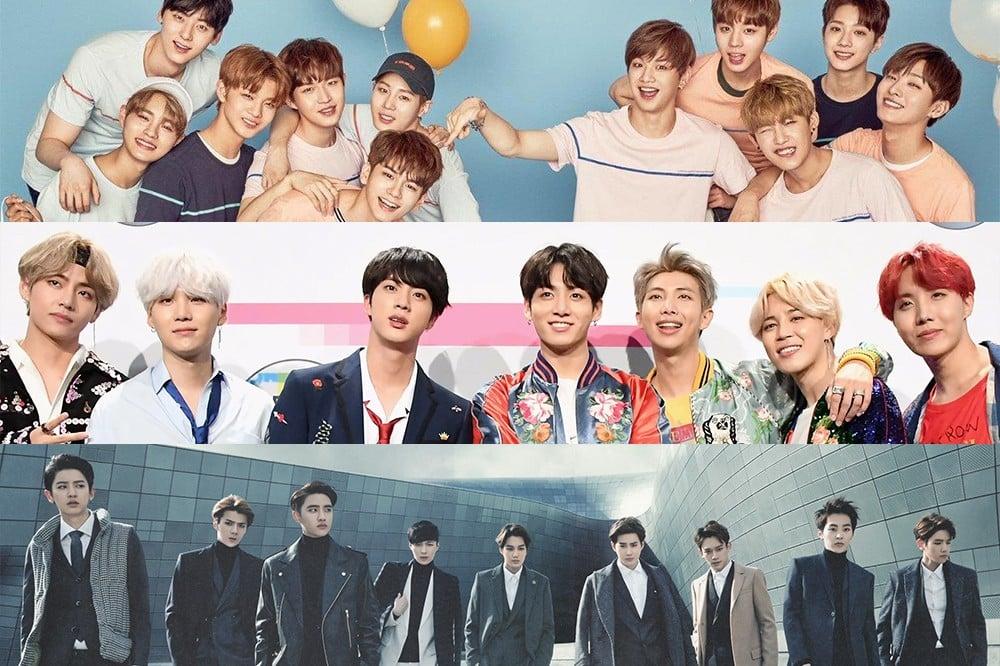 EXO, BTS, Wanna One