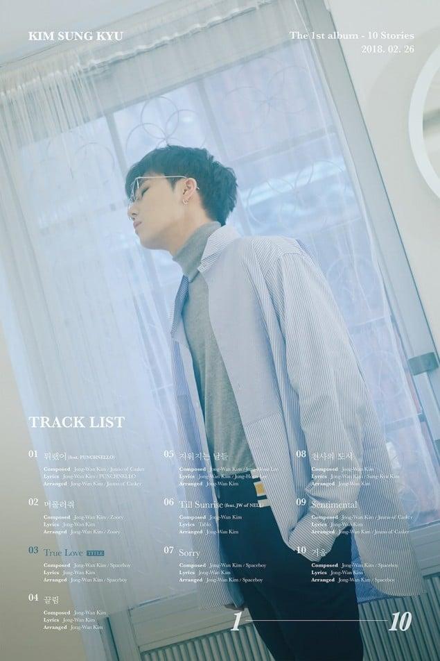 INFINITE's Sunggyu Reveals '10 Stories' Track List | Allkpop