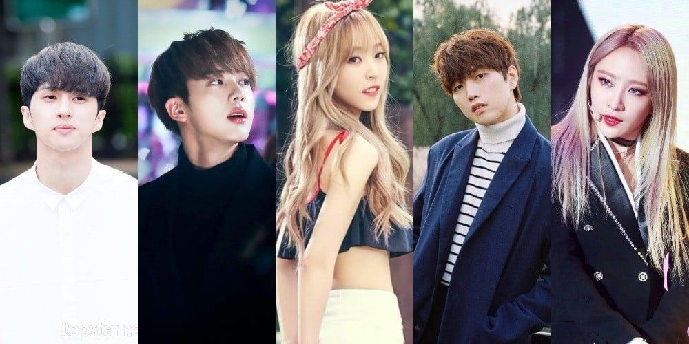 Sandeul,Hani,Ken,jin,jin,moon-byul,jin