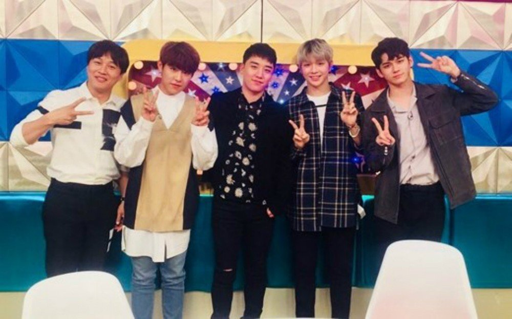 Big Bang, Seungri, Wanna One, Kang Daniel, Ong Seong Wu, Park Woo Jin