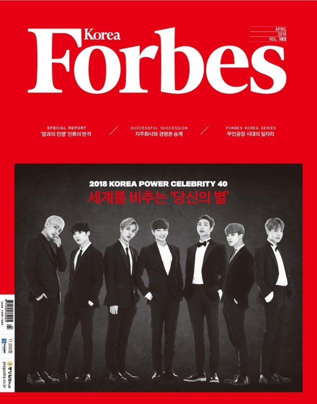 """Forbes Korea Announces The Top 40 """"Power Celebrities"""" Of ..."""