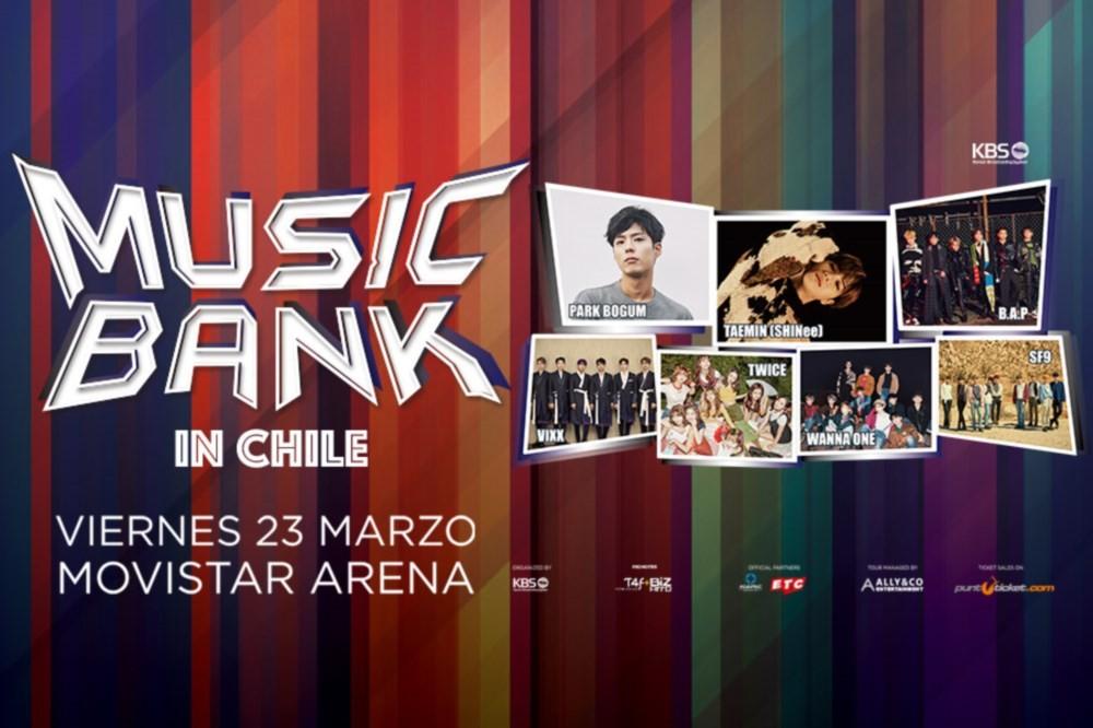 B.A.P, Taemin, VIXX, TWICE, SF9, Wanna One
