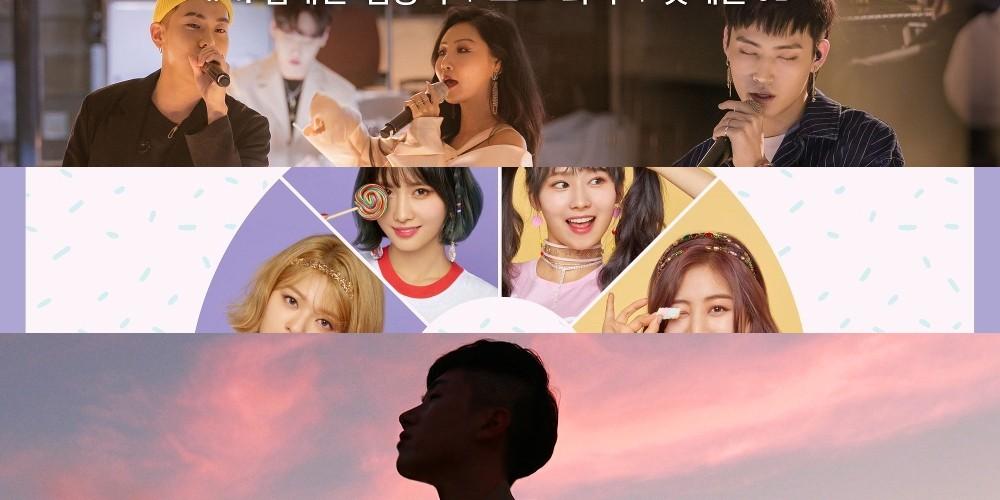 Big-Bang,winner,mamamoo,hwa-sa,loco,ikon,twice,melomance,sik-k