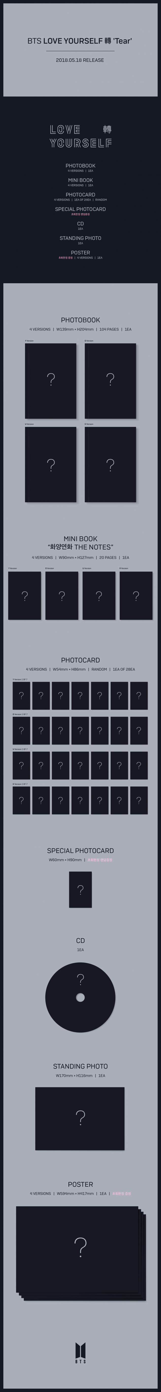 Bts preview details to their 4 version love yourself tear album check it out below and stay tuned for more on bts comeback solutioingenieria Image collections