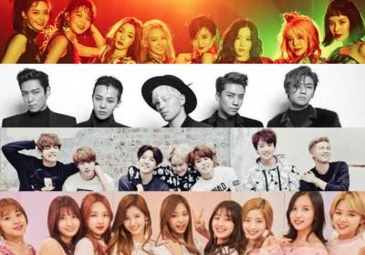 2PM,Big-Bang,EXO,KARA,SISTAR,Girls-Generation,Wonder-Girls,bts,twice,wanna-one