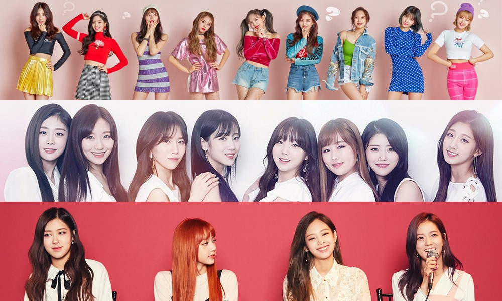 Lovelyz, TWICE, BLACKPINK